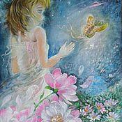 Картины и панно ручной работы. Ярмарка Мастеров - ручная работа Картина сказочная и очень красивая Цветочница. Handmade.