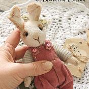 Куклы и игрушки ручной работы. Ярмарка Мастеров - ручная работа Зайчик тедди Зай Морковкин. Handmade.
