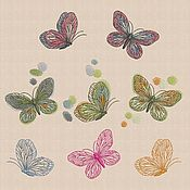 Материалы для творчества handmade. Livemaster - original item Machine Embroidery Designs Spring butterfly bt198. Handmade.