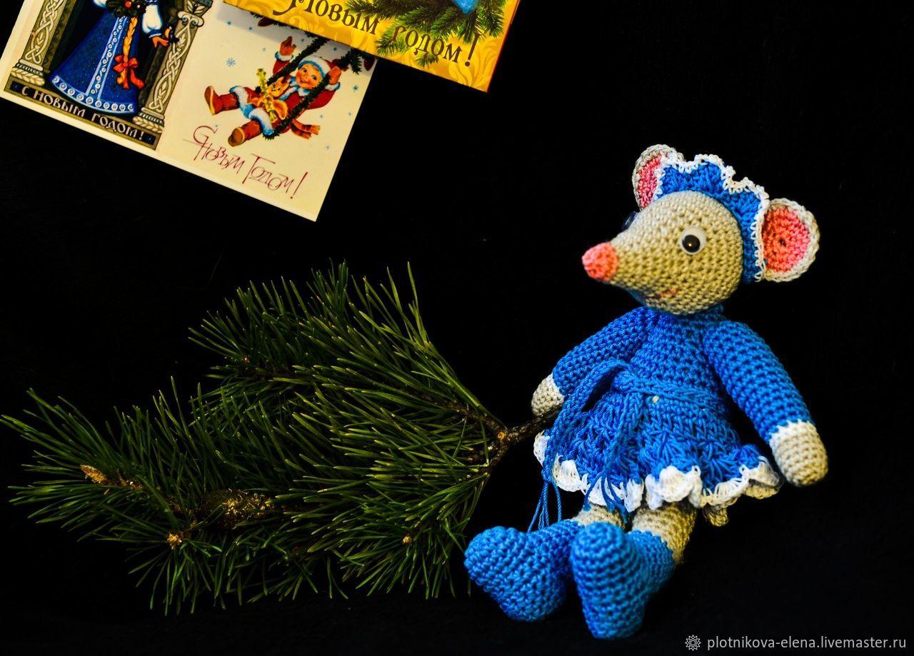 Мышка Снегурка, Мягкие игрушки, Тамбов,  Фото №1