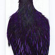 Перья ручной работы. Ярмарка Мастеров - ручная работа Перья Whiting American Hen Cape BLW/Purple (42801354). Handmade.