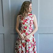 """Платья ручной работы. Ярмарка Мастеров - ручная работа Платье """"Летнее настроение"""" из хлопка. Для кормящих мам. Handmade."""