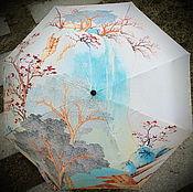Аксессуары ручной работы. Ярмарка Мастеров - ручная работа Зонт от дождя и солнца в любое время года,Зонт с рисунком. Handmade.