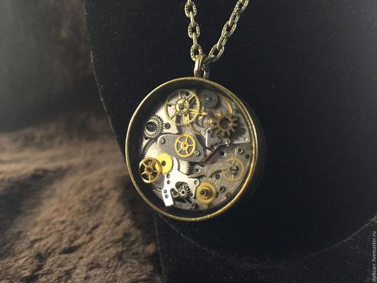 """Готика ручной работы. Ярмарка Мастеров - ручная работа. Купить Кулон """"Heart o'clock"""" в стиле стимпанк. Handmade. Комбинированный"""