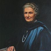 """Картины и панно ручной работы. Ярмарка Мастеров - ручная работа Копия портрета """"Maria Montessori"""". Handmade."""