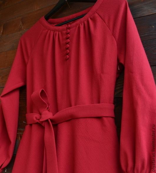 """Платья ручной работы. Ярмарка Мастеров - ручная работа. Купить Платье """"Рябиновый вальс"""".. Handmade. Ярко-красный, ретро стиль"""