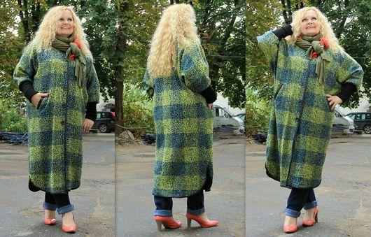 Верхняя одежда ручной работы. Ярмарка Мастеров - ручная работа. Купить Пальто клетка. Handmade. Пальто, пальто женское