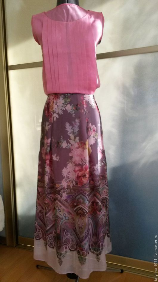 Юбки ручной работы. Ярмарка Мастеров - ручная работа. Купить юбка шелковая Розы. Handmade. Комбинированный