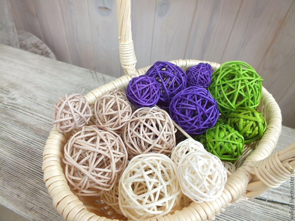 Декоративный шар из ротанга своими руками 70