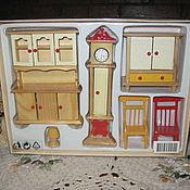 Куклы и игрушки ручной работы. Ярмарка Мастеров - ручная работа Кукольный набор мебели для пупсов и маленьких кукол в упаковке Лондон. Handmade.