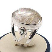 Украшения handmade. Livemaster - original item Ring with rutile quartz and colored sapphires Silver Fancy. Handmade.