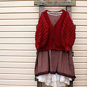 Одежда handmade. Livemaster - original item Jacket hand-knitted BOHO oversize