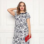 Одежда ручной работы. Ярмарка Мастеров - ручная работа Льняное платье 3379-1. Handmade.