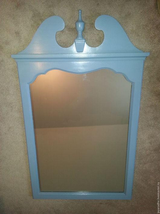 Зеркала ручной работы. Ярмарка Мастеров - ручная работа. Купить Зеркало голубое. Handmade. Голубой, мебель прованс, большое зеркало