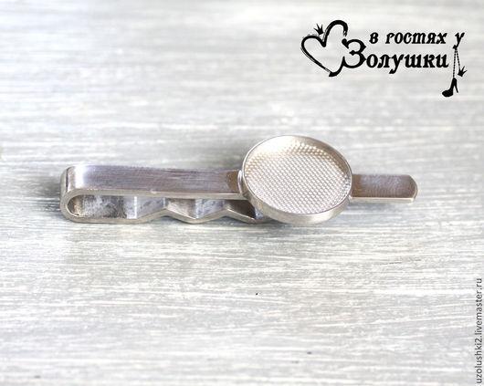 Для украшений ручной работы. Ярмарка Мастеров - ручная работа. Купить Зажим для галстука - Основа из серебра 925 пробы. Handmade.