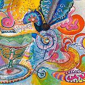 """Фен-шуй и эзотерика ручной работы. Ярмарка Мастеров - ручная работа ЭИ эзотерическая картина """"Формула мудрости счастья"""". Handmade."""