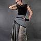 Алина Сапогова: Авторский комплект из шерсти и шелка: длинная юбка с кружевом  и блузка в винтажном стиле `Серый ветер`. Фотограф: Александр Сапогов