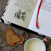 """Канцелярские товары ручной работы. Ярмарка Мастеров - ручная работа Обложки для книг """"Уютный завтрак"""" обложка на ежедневник. Handmade."""