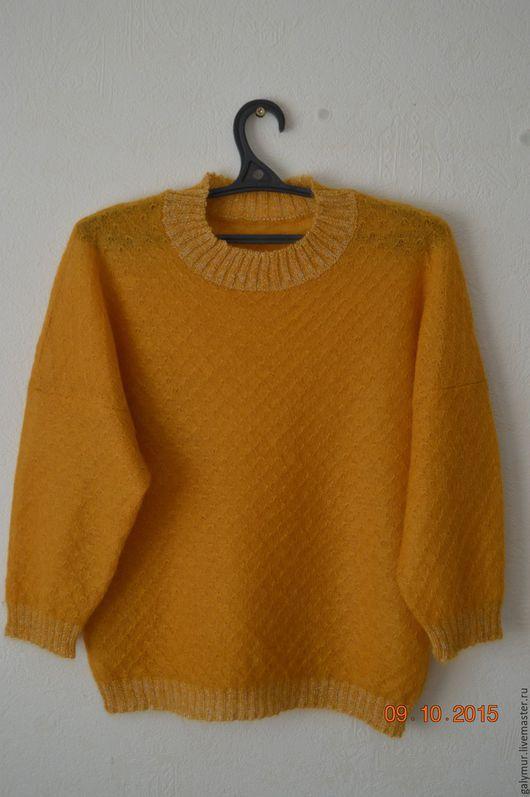 """Кофты и свитера ручной работы. Ярмарка Мастеров - ручная работа. Купить """"Охровый пуловер"""". Handmade. Оранжевый, теплый, женщине, универсальный"""