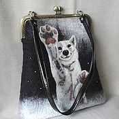 Сумки и аксессуары ручной работы. Ярмарка Мастеров - ручная работа Cумка с собакой, валяная сумка, сумка на плечо. Handmade.