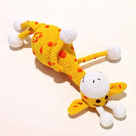 Слинги ручной работы. Ярмарка Мастеров - ручная работа. Купить Жирафик. Handmade. Желтый, игрушка на заказ, развитие моторики, животные