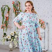 Платье Сабрина мята.52-64 размеры
