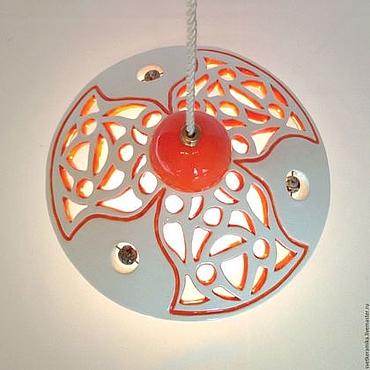 Для дома и интерьера ручной работы. Ярмарка Мастеров - ручная работа Керамический светильник «Апельсинка». Handmade.