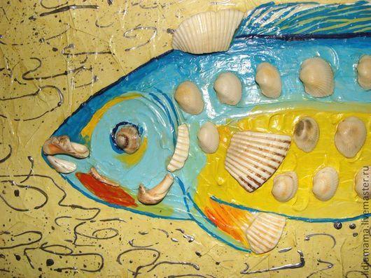 Картина. Рыба из ракушек. Фрагмент\r\nработа Разумовой Лидии Владимировны