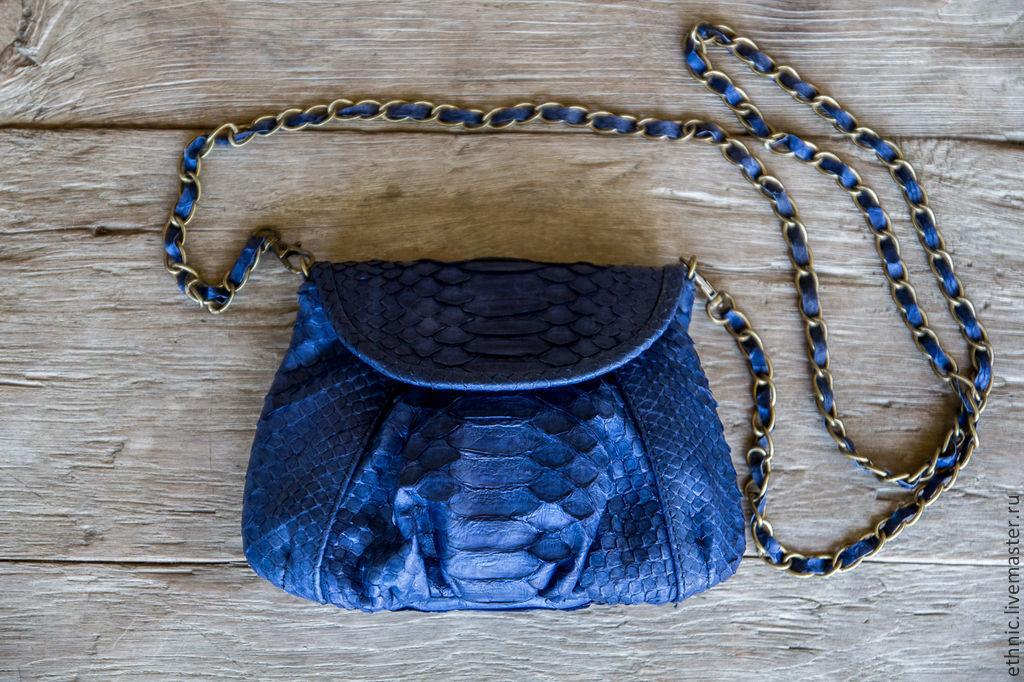 Сумки женские из кожи питона и змеи