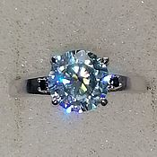 Украшения handmade. Livemaster - original item Silver ring with moissanite