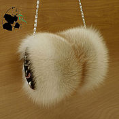Аксессуары handmade. Livemaster - original item Fur clutch bag from the fur of the red Fox. Stylish ladies accessory. Handmade.