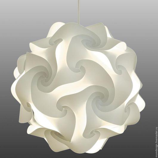 Освещение ручной работы. Ярмарка Мастеров - ручная работа. Купить Дизайнерский светильник ROSE (конструктор). Handmade. Белый, шарообразные светильники