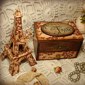 Для дома и интерьера handmade. Livemaster - original item set - a mini chest of drawers with a mirror and a statuette of