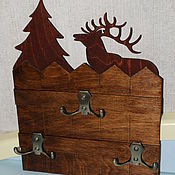 Для дома и интерьера handmade. Livemaster - original item The housekeeper hanger Forest fence. Handmade.