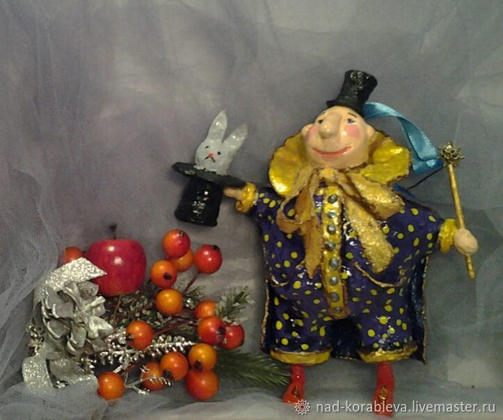 Dolls and dolls: Cotton toy for the Christmas tree ' Magician', Dolls, Moscow,  Фото №1