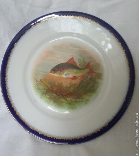 Винтажная посуда. Ярмарка Мастеров - ручная работа. Купить Тарелка из сервиза, фарфор, винтаж, Австрия PSL. Handmade. Тарелка, фарфор