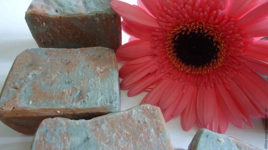 Мыло ручной работы. Ярмарка Мастеров - ручная работа. Купить Мыло с голубой и розовой глиной. Handmade. Мыло ручной работы