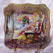 Посуда ручной работы. Ярмарка Мастеров - ручная работа Тарелочка Краски осени. Handmade.