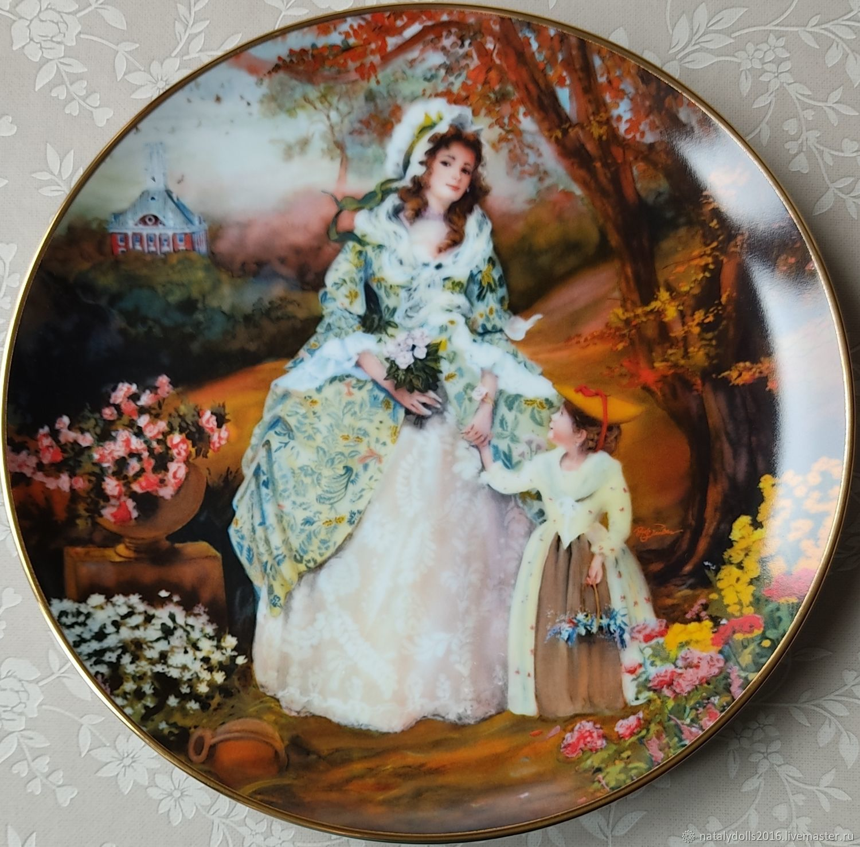 Винтаж: Декоративная фарфоровая тарелка 1986г, Тарелки винтажные, Москва,  Фото №1