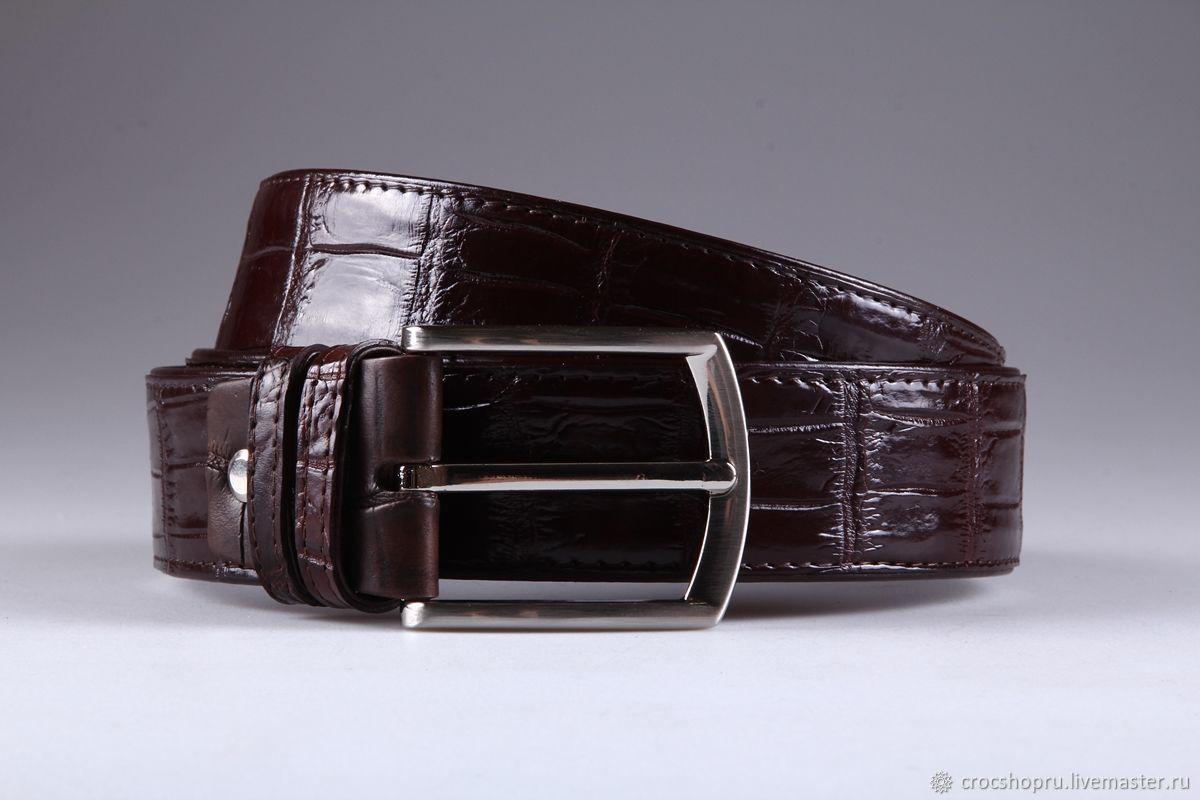Ремень из кожи крокодила IMA3108K, Ремни, Москва,  Фото №1