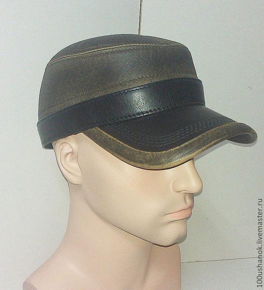 Бейсболки ручной работы. Ярмарка Мастеров - ручная работа. Купить Кожаная кепка Реглан(1303). Handmade. Коричневый, модная шапка