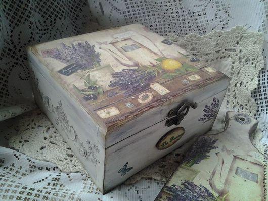 Шкатулки ручной работы. Ярмарка Мастеров - ручная работа. Купить Чйная коробка Лавандоваяа. Handmade. Бледно-сиреневый, лавандовый цвет