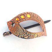 Украшения handmade. Livemaster - original item barrette carnival (golden, brooch, hair pin shawl). Handmade.