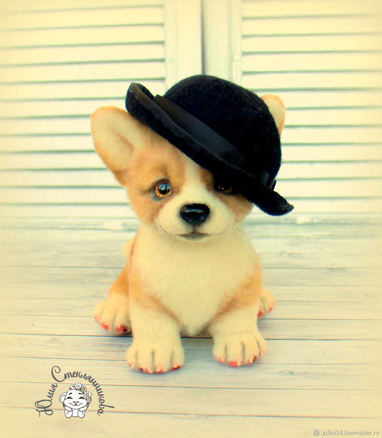 Needle felted toy puppy Corgi, Felted Toy, St. Petersburg,  Фото №1