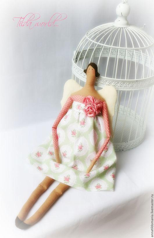 Куклы Тильды ручной работы. Ярмарка Мастеров - ручная работа. Купить Тильда ангелы. Handmade. Комбинированный, подарок, холлофайбер