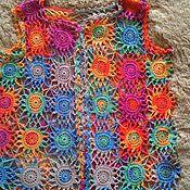 Одежда ручной работы. Ярмарка Мастеров - ручная работа жакет из мотивов, крючком. Handmade.