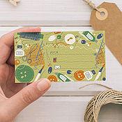Материалы для творчества handmade. Livemaster - original item A set of cards