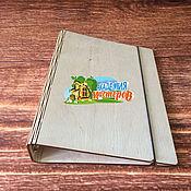 Материалы для творчества ручной работы. Ярмарка Мастеров - ручная работа Арт. 01 01 0054 Деревянная обложка для листов А5 на кольца d-25 мм. Handmade.