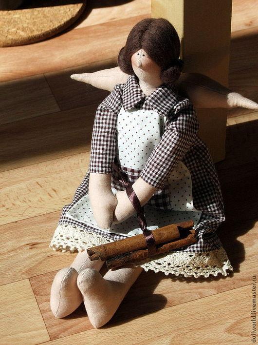 Куклы Тильды ручной работы. Ярмарка Мастеров - ручная работа. Купить Ангел с корицей. Handmade. Коричневый, кукла в подарок