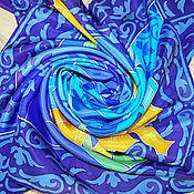 """Аксессуары ручной работы. Ярмарка Мастеров - ручная работа Батик платок """"Ирина"""". Именной платок. Handmade."""
